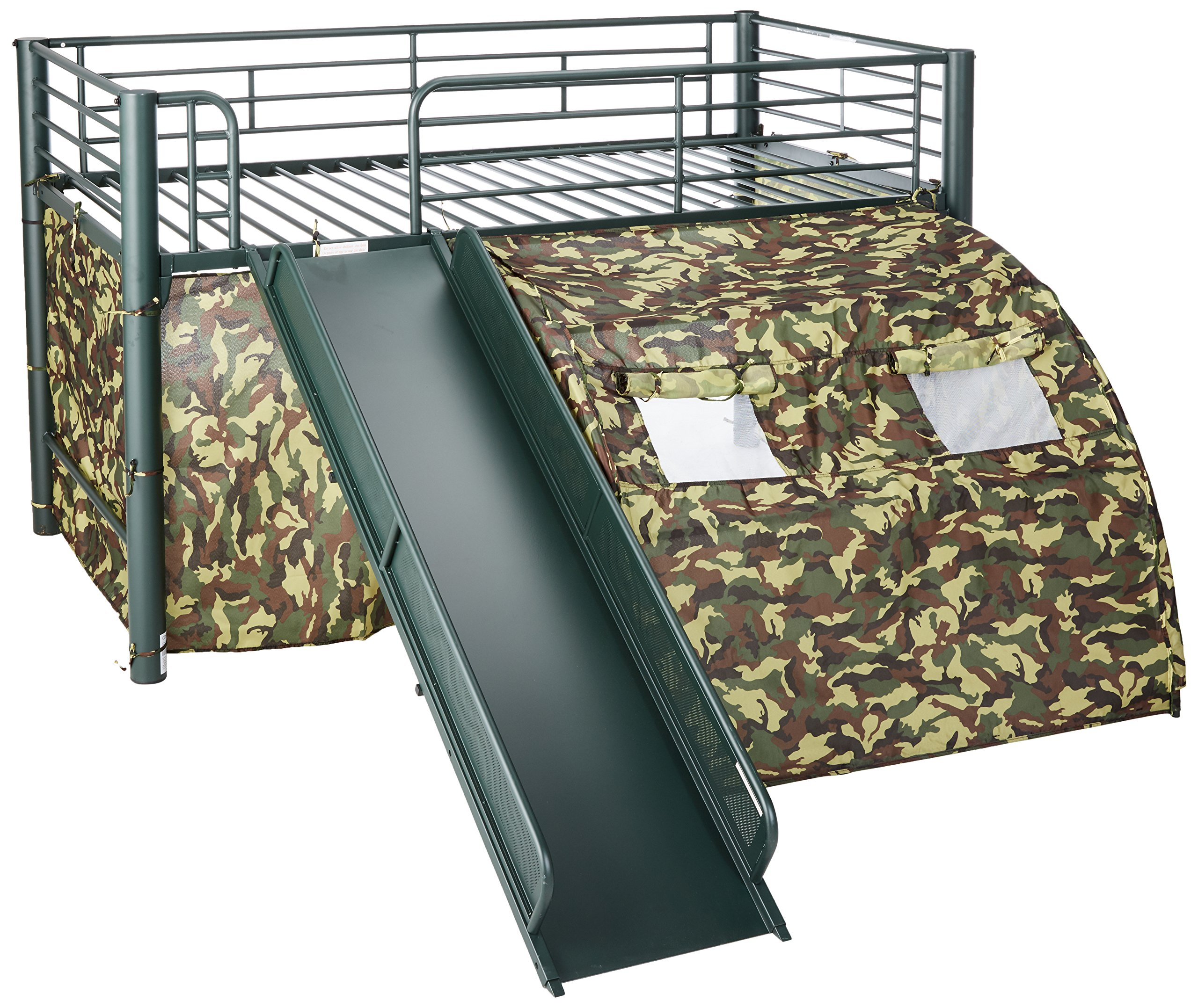 Coaster Home Furnishings  Kids Camo Tent Twin Loft Bunk Bed with Slide - Camouflauge by Coaster Home Furnishings