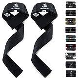 Fitgriff Profi Zughilfen (Gepolstert) 60cm für Fitness, Bodybuilding und Krafttraining - für Frauen und Männer - 2 Jahre Gewährleistung