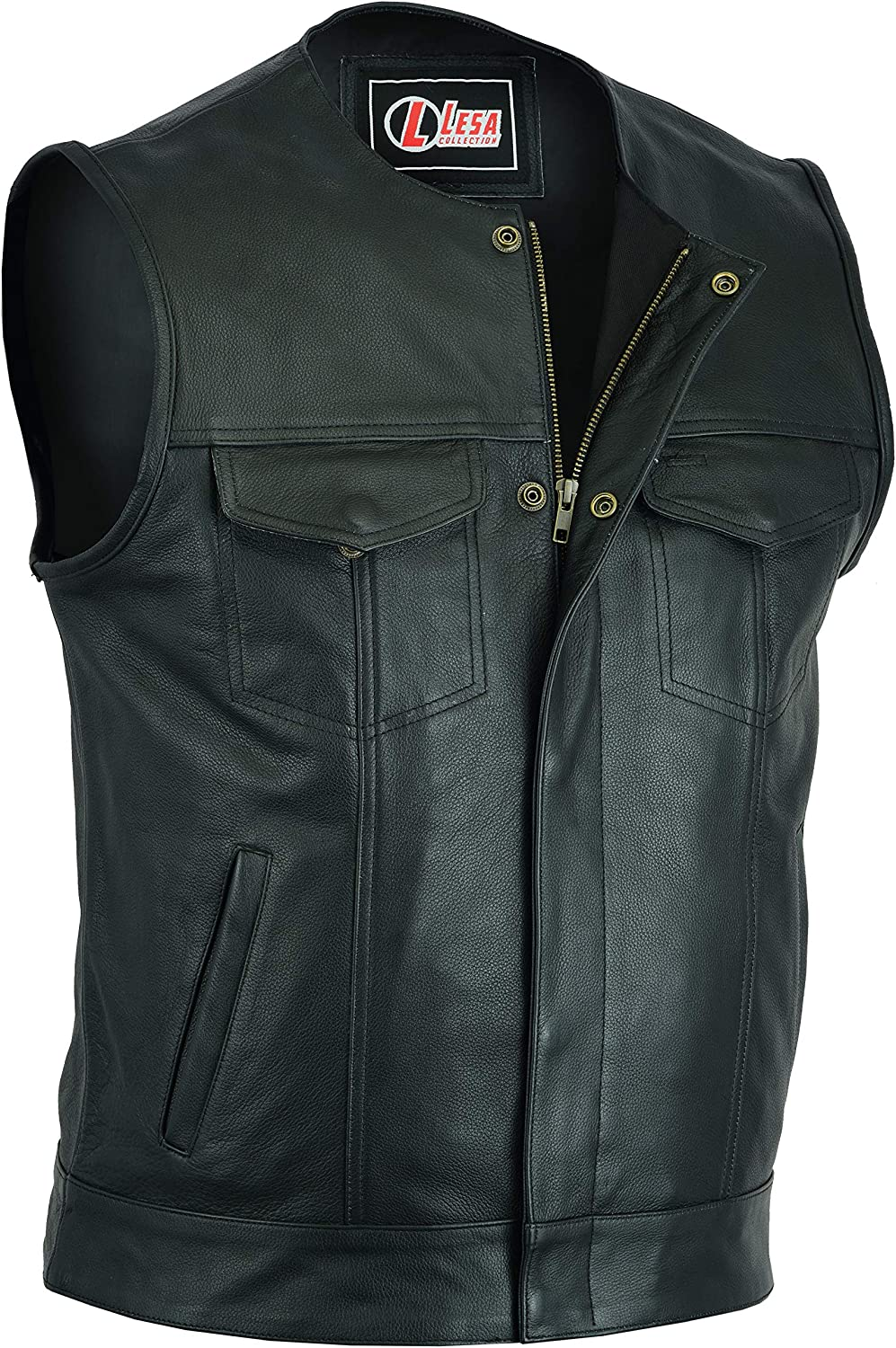 Sons of Anarchy LEATHER WAISTCOAT  Biker Vest Motorcycle MotorBike Leather
