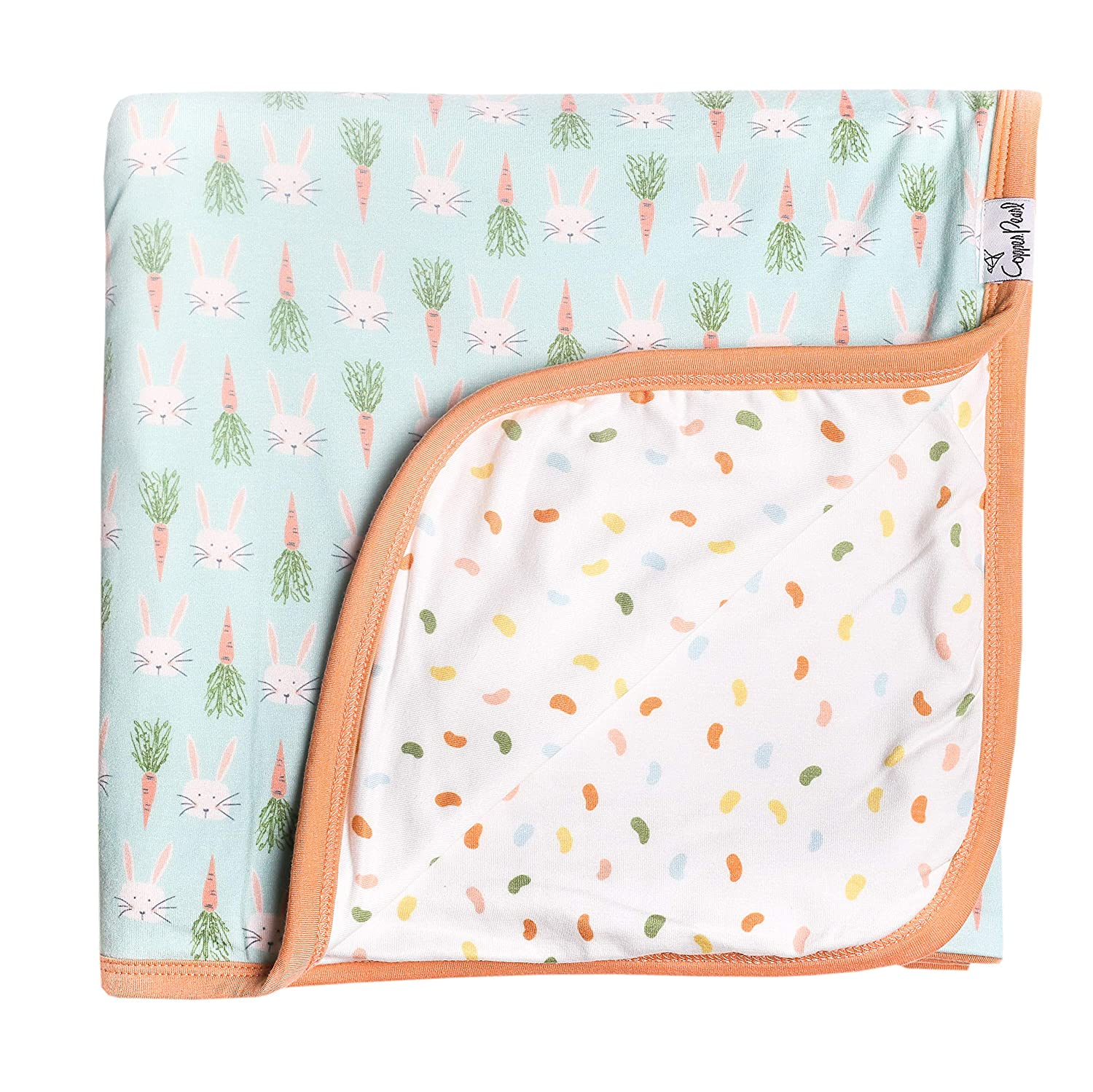 Large Premium Knit Baby 3 Layer Stretchy Quilt BlanketEaster by Copper Pearl