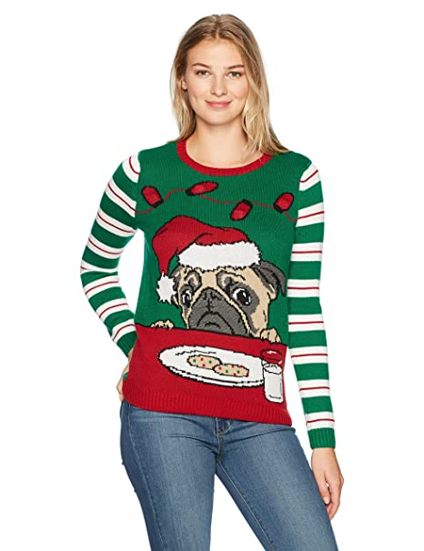 Christmas Ugly Sweater Co Para mujer Chamarra sin botón - Verde -    Amazon.es  Ropa y accesorios 74c47c6a6d7c