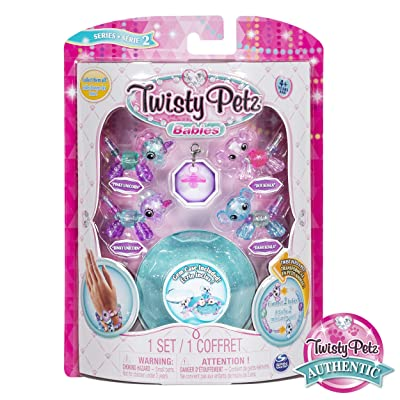 Twisty Petz, Series 2 Babies 4 Pack, Unicorns a Koalas Collectible Bracelet and Case (Blue) for Kids: Toys & Games