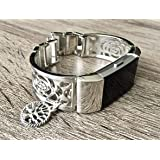 Silver Color Jewelry for Fitbit Charge 2 Band Silver Metal Bracelet for Fitbit Charge 2 Fitness