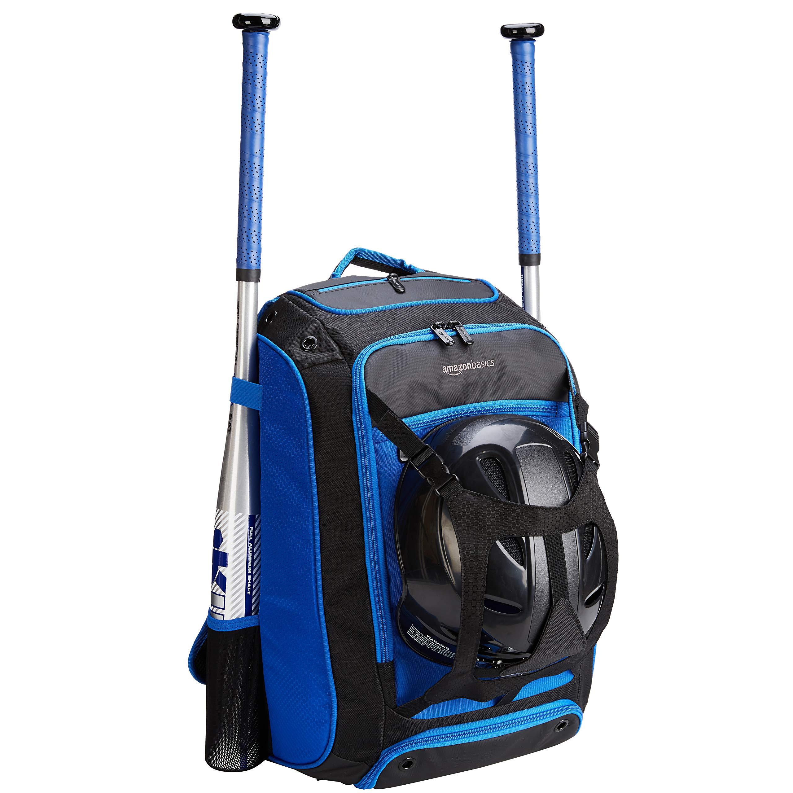 AmazonBasics Baseball Equipment Backpack, Blue by AmazonBasics (Image #1)