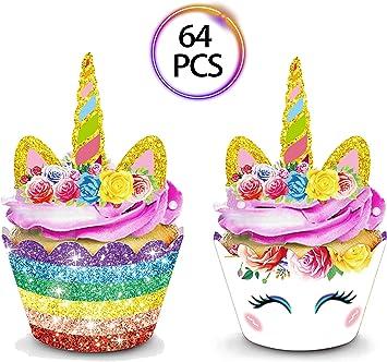 Amazon.com: QMZ - Juego de 32 adornos para cupcakes, diseño ...