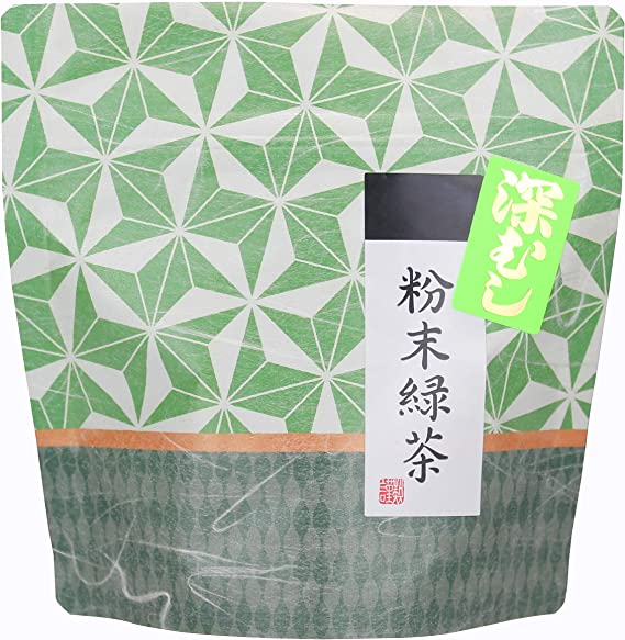 岩﨑園製茶 新茶 2020年産 福岡県産 八女茶 深むし 粉末 緑茶 50g
