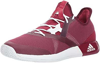 adidas Performance Women's Adizero Defiant Bounce w Tennis Shoe, Mystery  Ruby/White/Red