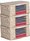 Generic Presents Non Woven Saree Cover Storage Bags for Clothes with primum Quality Combo Offer Saree Organizer for Wardrobe/Organizers for Clothes/Organizers for Wardrobe (Pack of 3)