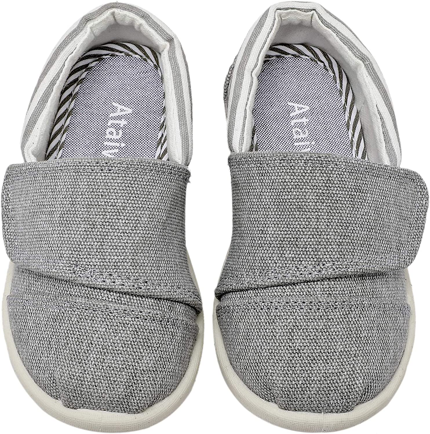 Ataiwee Baby Boys Sneaker Shoes 6//12//18Months//Infant//Toddler Slip on Canvas Comfy Kids Non-Slip Hard Bottom First Walkers Tennis Shoes.