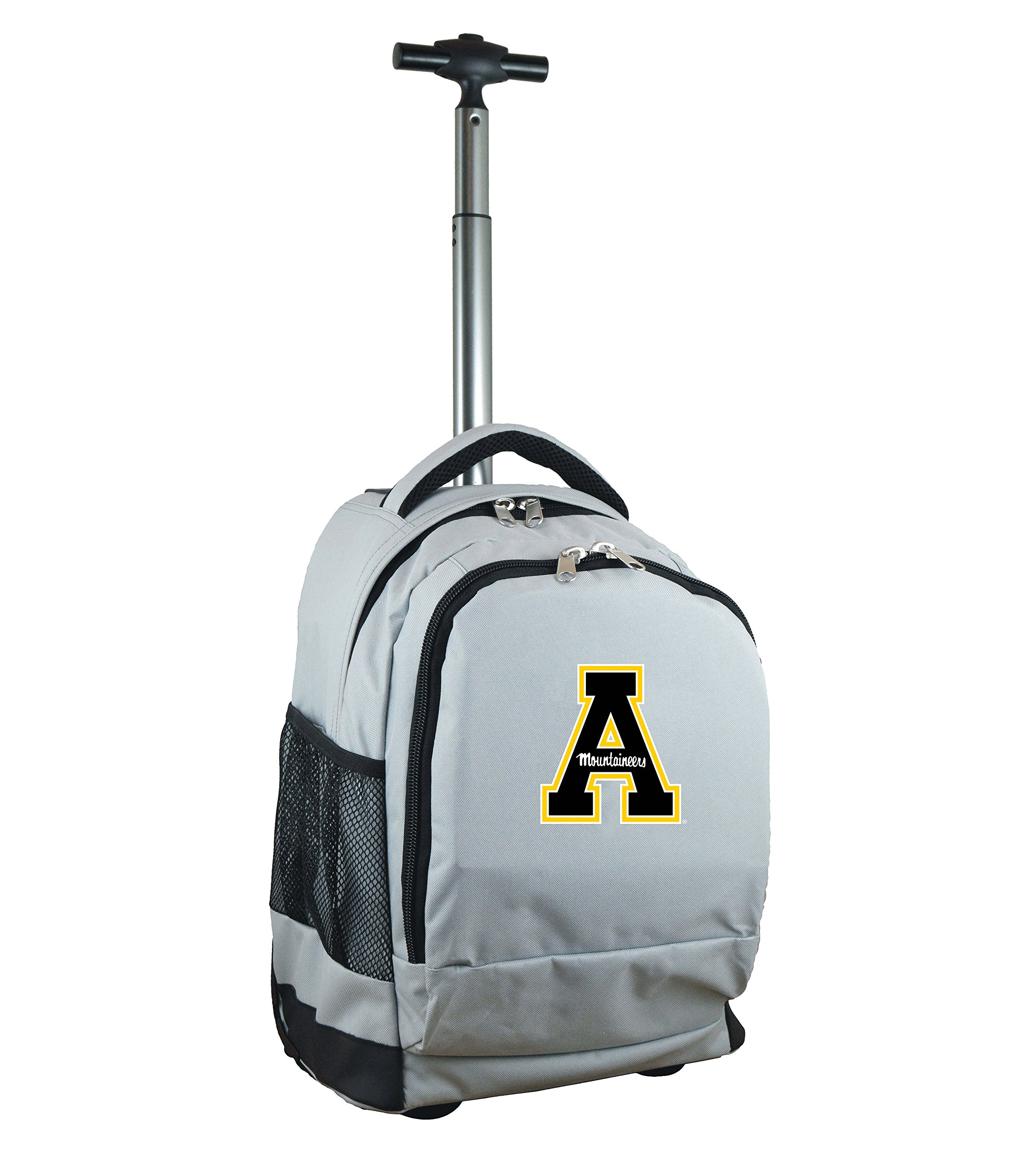 Denco NCAA Appalachian State Mountaineers Expedition Wheeled Backpack, 19-inches, Grey by Denco (Image #1)