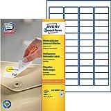 Avery Zweckform L4736REV-100 Universal-Etiketten (A4, 4,800 Etiketten ablösbar, 45,7 x 21,2 mm) 100 Blatt weiß