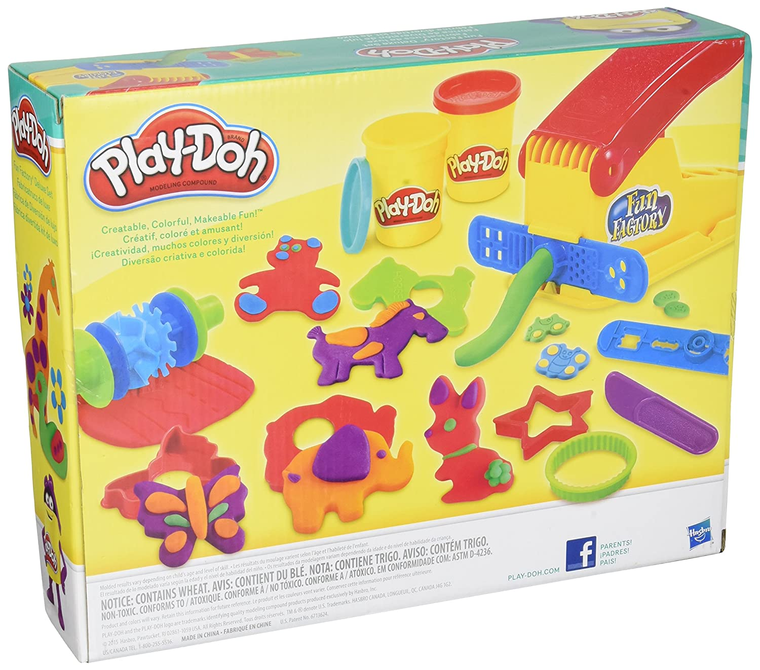 Amazon Play Doh Fun Factory Deluxe Set Toys & Games
