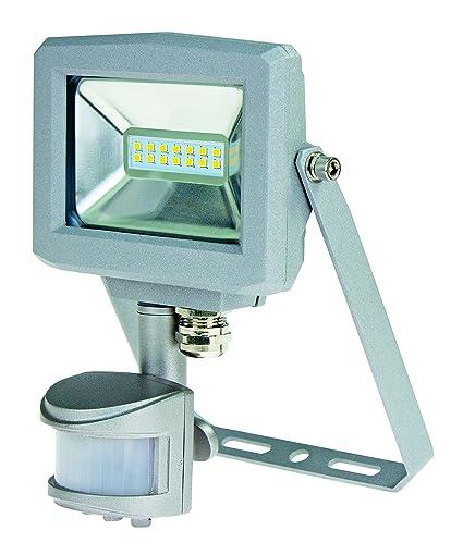 as – Schwabe 46416 Slim Line de chip LED Foco 10 W con detector de movimiento