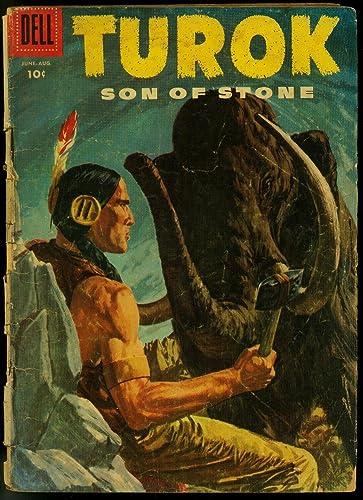 Amazon Com Turok Son Of Stone 4 1956 Dell Comics Fair Entertainment Collectibles