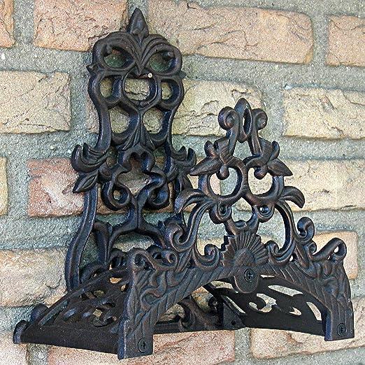 Esschert Design - Soporte para Manguera de jardín, diseño Antiguo, Color Negro y marrón: Amazon.es: Jardín