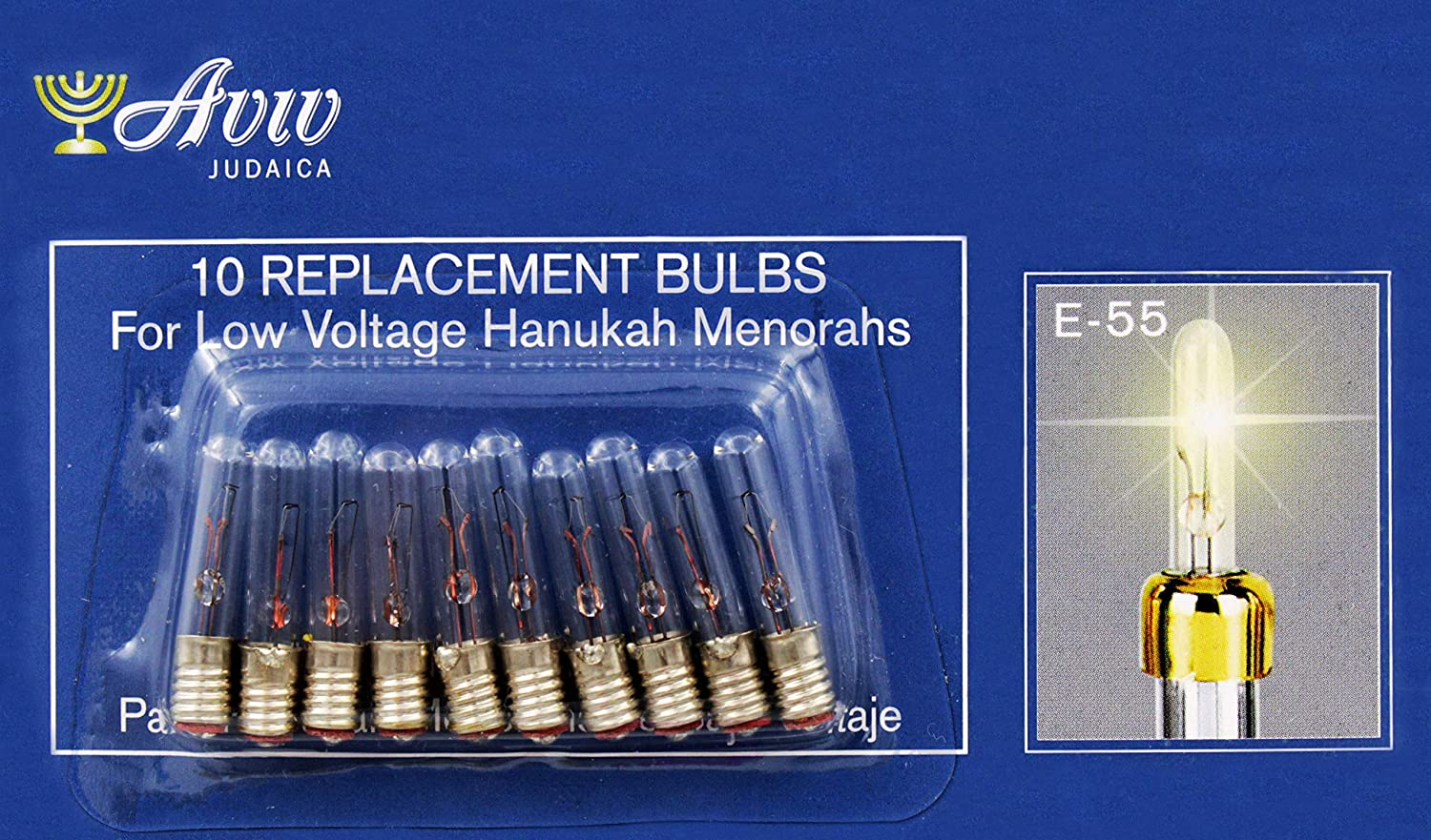 Low Voltage Replacement Bulbs for Low Voltage Hanukah Menorah Aviv Judaica Imports E-5