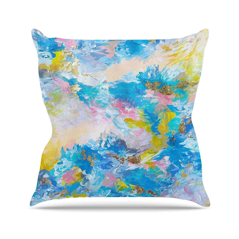 20 by 20 Kess InHouse EBI Emporium When We were Mermaids Blue Yellow Throw Pillow