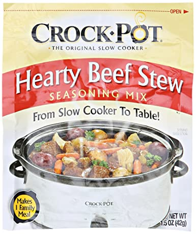 Amazon Com Crock Pot Hearty Beef Stew Seasoning Mix 1 5 Oz Grocery Gourmet Food