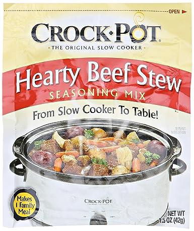 Amazon Com Crock Pot Hearty Beef Stew Seasoning Mix 1 5 Oz Grocery Gourmet Food