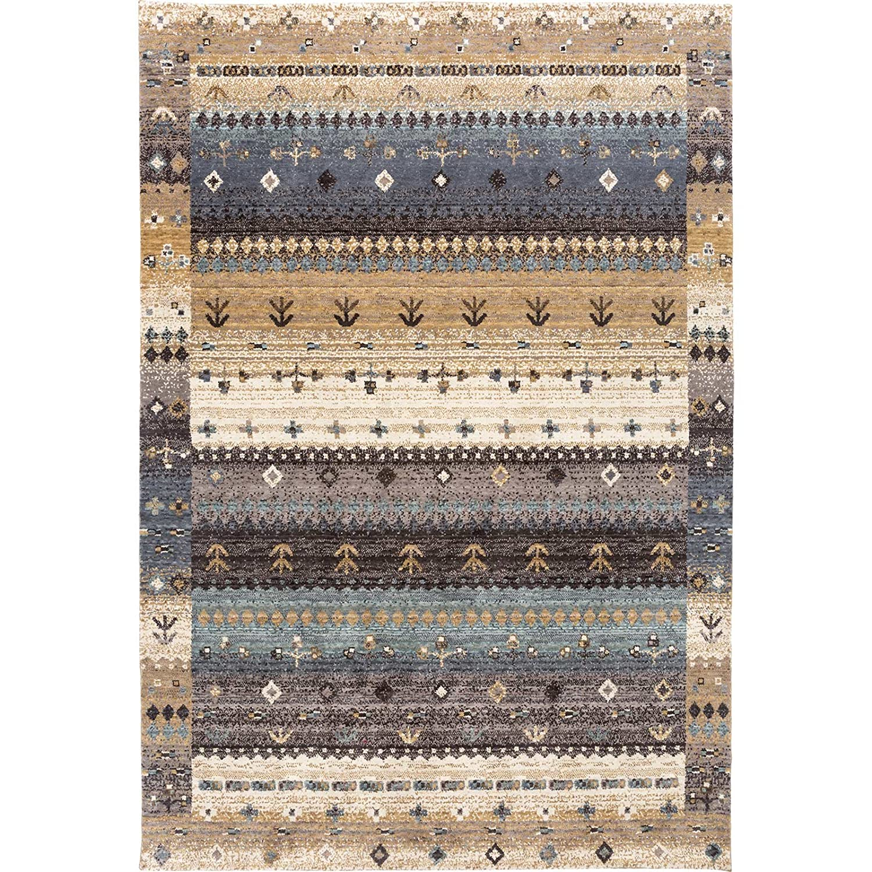 Taleta Moderner Moderner Moderner Gabbeh Teppich, Hochflor Bordüre bunt Muster, Braun Grau Mehrfarbig, Größe 70 x 140 cm B0778ZVNKD Teppiche 86eb8a