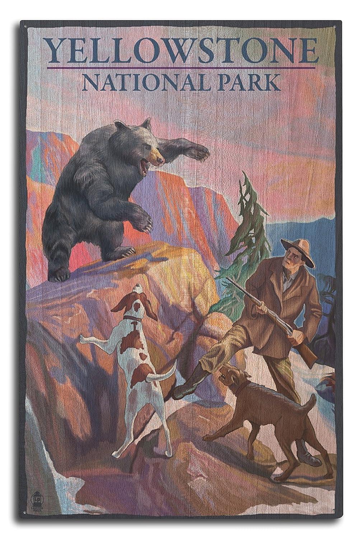 人気定番 イエローストーン国立公園 – 15 Bearハンティングシーン 12 Wood x 18 Metal x Sign LANT-43654-12x18M B073686Y32 10 x 15 Wood Sign 10 x 15 Wood Sign, 安芸太田町:ed109e59 --- 4x4.lt