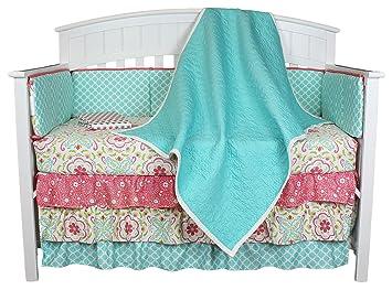 Amazon.com: Gia Aqua colcha 8-in-1 bebé niña Juego de ropa ...