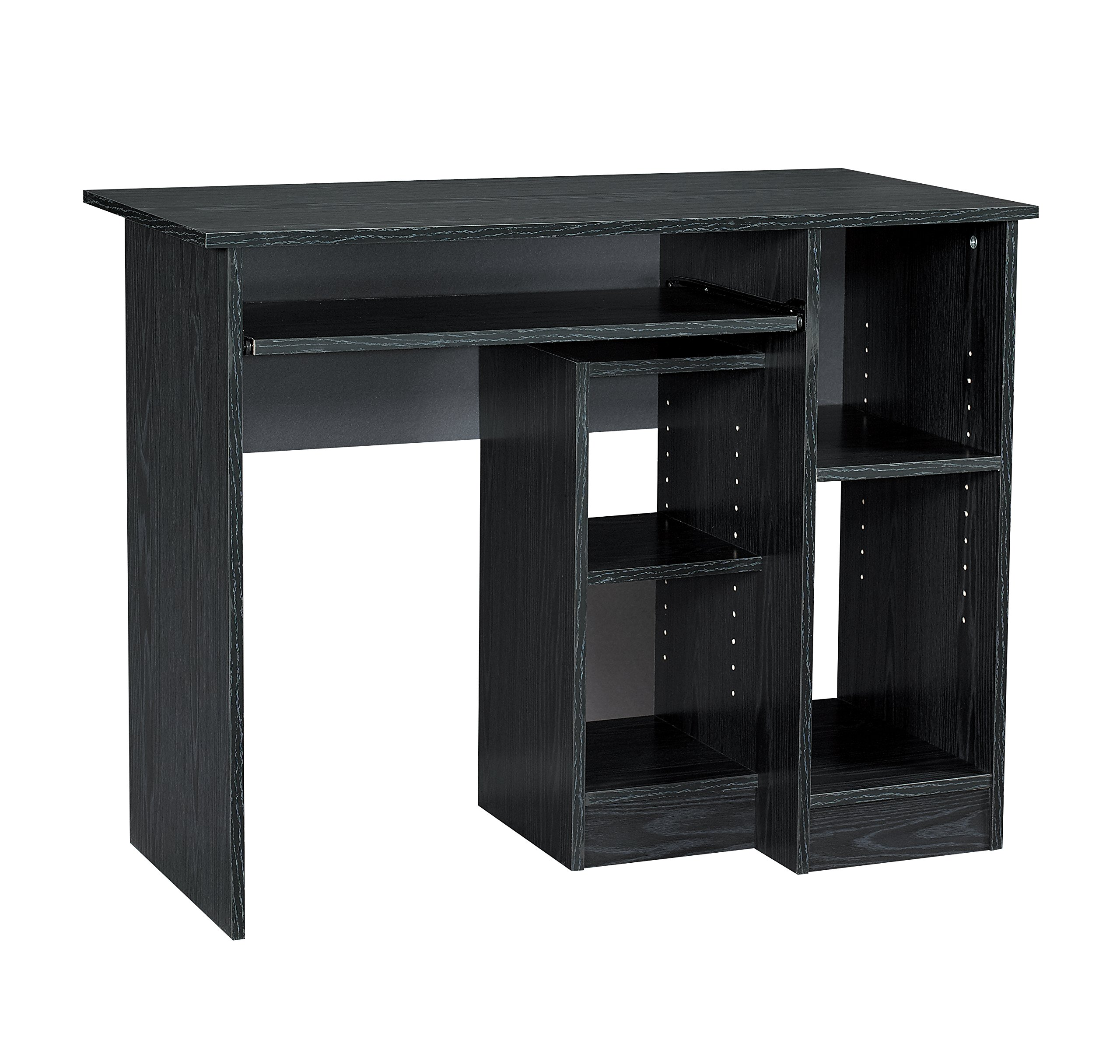 Mylex Computer Desk; 39.5 W x 19.5 D x 30-1/8 Inches, Black, Assembly Required (43254)