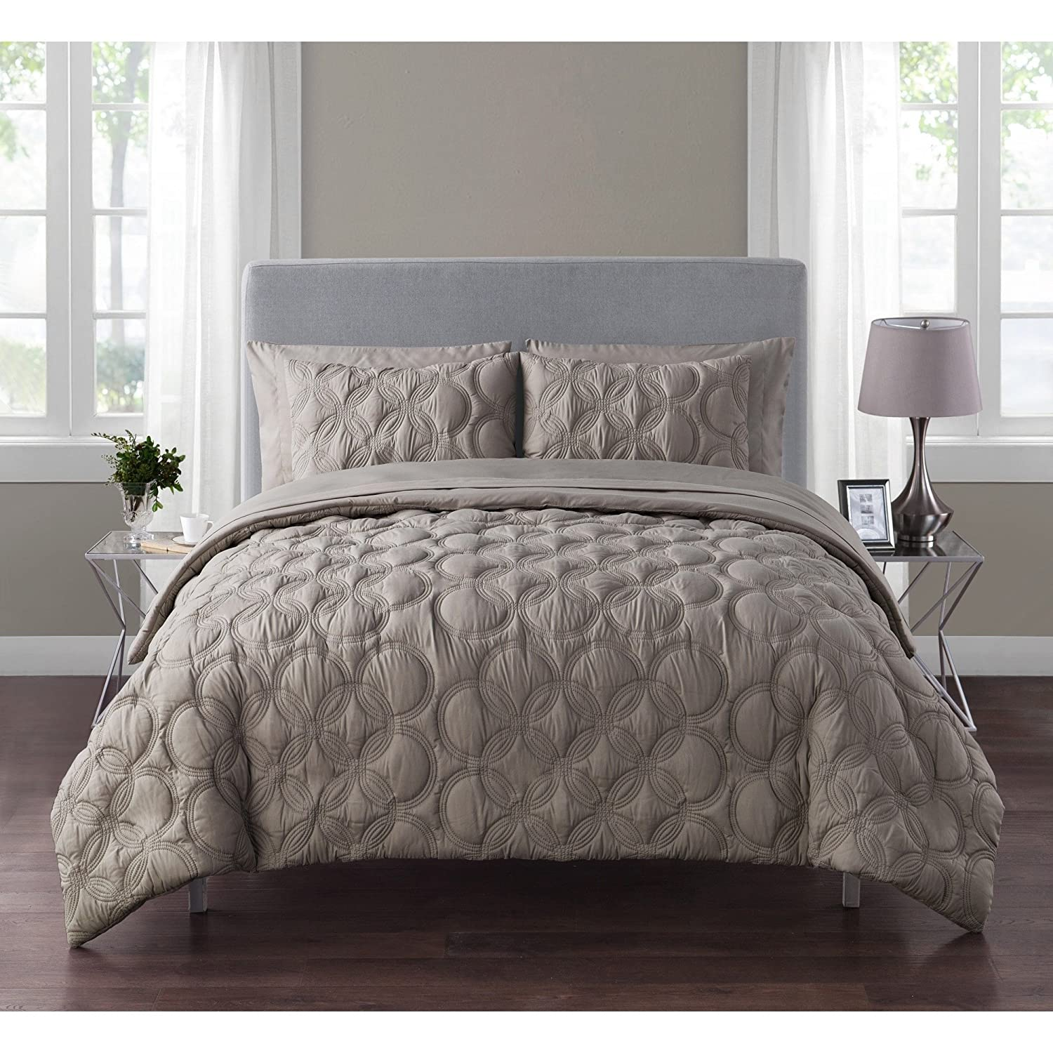 Amazon.com: VCNY Home Atoll Embossed 7 Piece Bed-in-A-Bag ... on