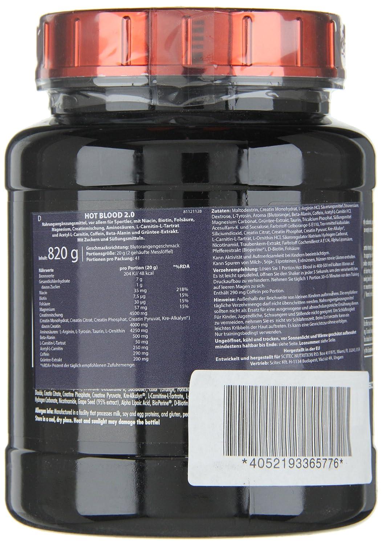 SCITEC Nutrition Hot Blood 3.0 - 300 gr Blue Guarana: Amazon.es: Alimentación y bebidas