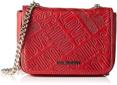 Love Moschino Borsa Embossed Pu Rosso - Borse a tracolla Donna 13258332048