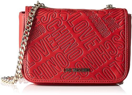 Love Moschino Borsa Embossed Pu Rosso - Borse a tracolla Donna eef5c54dace