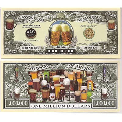Beer Money $Million Dollar$ Novelty Bill Collectible: Toys & Games