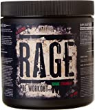 Warrior Rage Pre-Workouts Supplement Powder Savage, Strawberry, 392 g