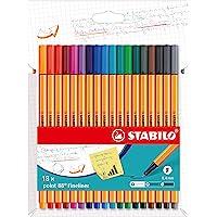 Stabilo point 8818-4 cienkopisy 88 – 18 szt. – w 18 różnych kolorach