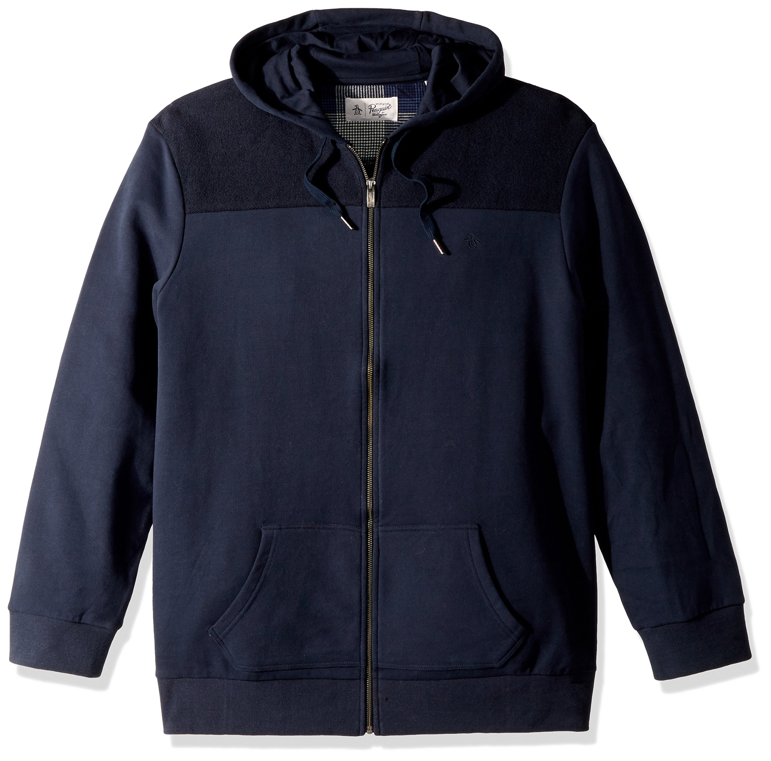 Original Penguin Men's Big and Tall Drop Shoulder Hoodie, Dark Sapphire, 4 XL-Extra Large