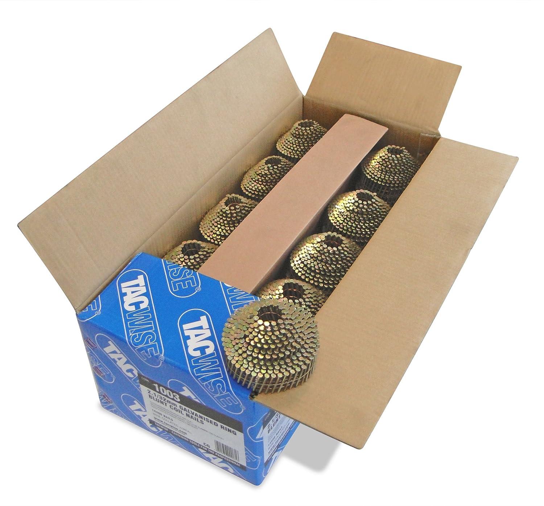 Tacwise 1003 Coilnä gel (Ring, Verzinkt Abgerundet, 2, 1/32mm )14.400 Stü ck pro Box