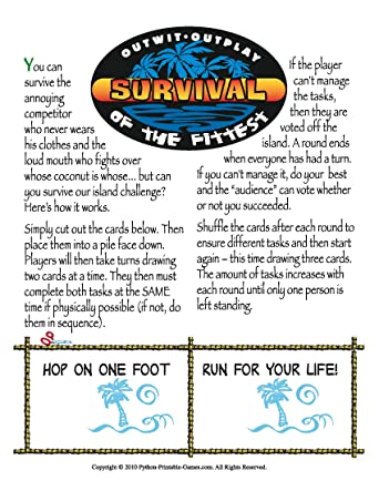 graphic about Printable Party Game titled : Survivor Online games Printable Pirate Occasion Video game