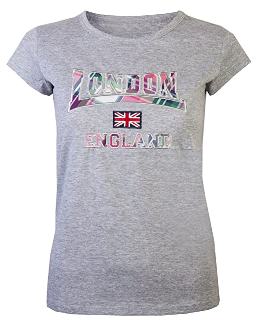 1f6c2b1459 Camiseta para mujer con diseño de Londres y bandera de Inglaterra ...