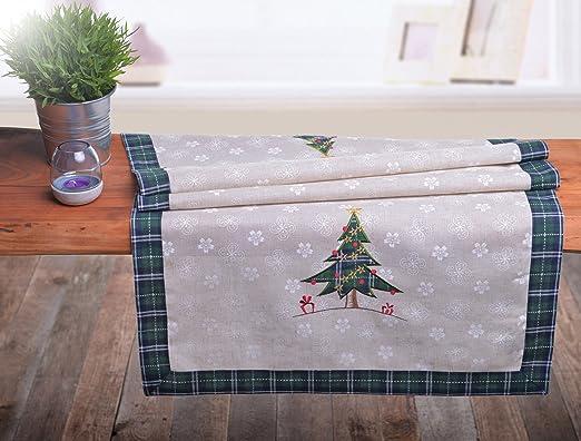 Beige Verde Camino de mesa navideño Camino de mesa decoración de ...