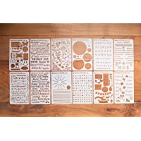 BULLETstencils Starter Set - Featuring 12 Journal Stencils: Includes Word Stencils, Circle Stencils, Drawing Stencils…