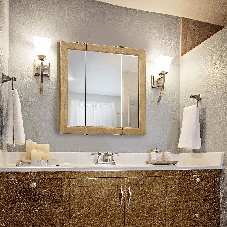 Design House 545277 Mirrors Medicine Cabinets, 24 W x 24 H, Honey Oak