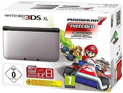 Nintendo 3Ds XL - Konsole Silber/Schwarz inkl. Mario Kart 7 ...