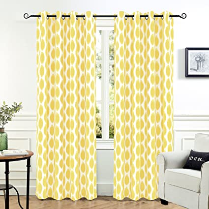 DriftAway Allen Trellis Room Darkening Thermal Insulated Grommet Unlined Window Curtains Set Of Two