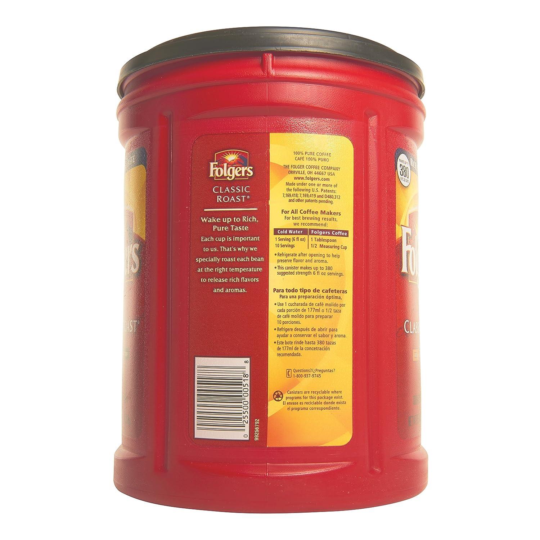 Amazon Folgers Coffee ClassicMedium Roast 48 Ounce Ground Grocery Gourmet Food