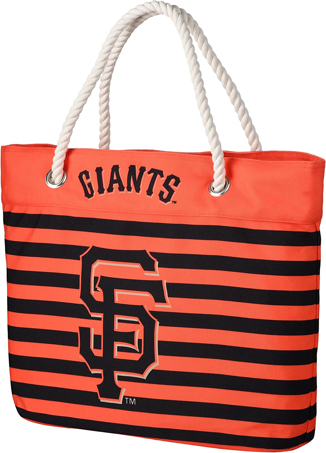FOCO MLB Unisex Nautical Stripe Tote Bag