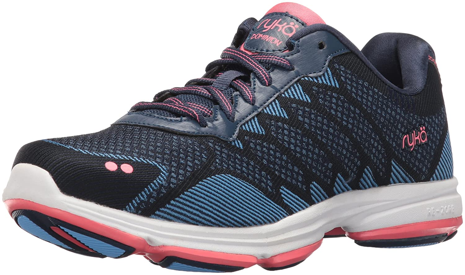 Ryka Women's Dominion Walking Shoe B01KW9TIII 7.5 B(M) US|Navy/Blue