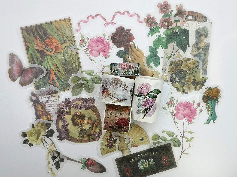 cherubs //sticker decoupage decal Vintage Victorian Valentines Decoupage