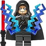 Custom Minifigur aus LEGO Star Wars Bauteilen: Imperator Palpatine / Darth Sidious mit 2 Machtblitzen und Laserschwert