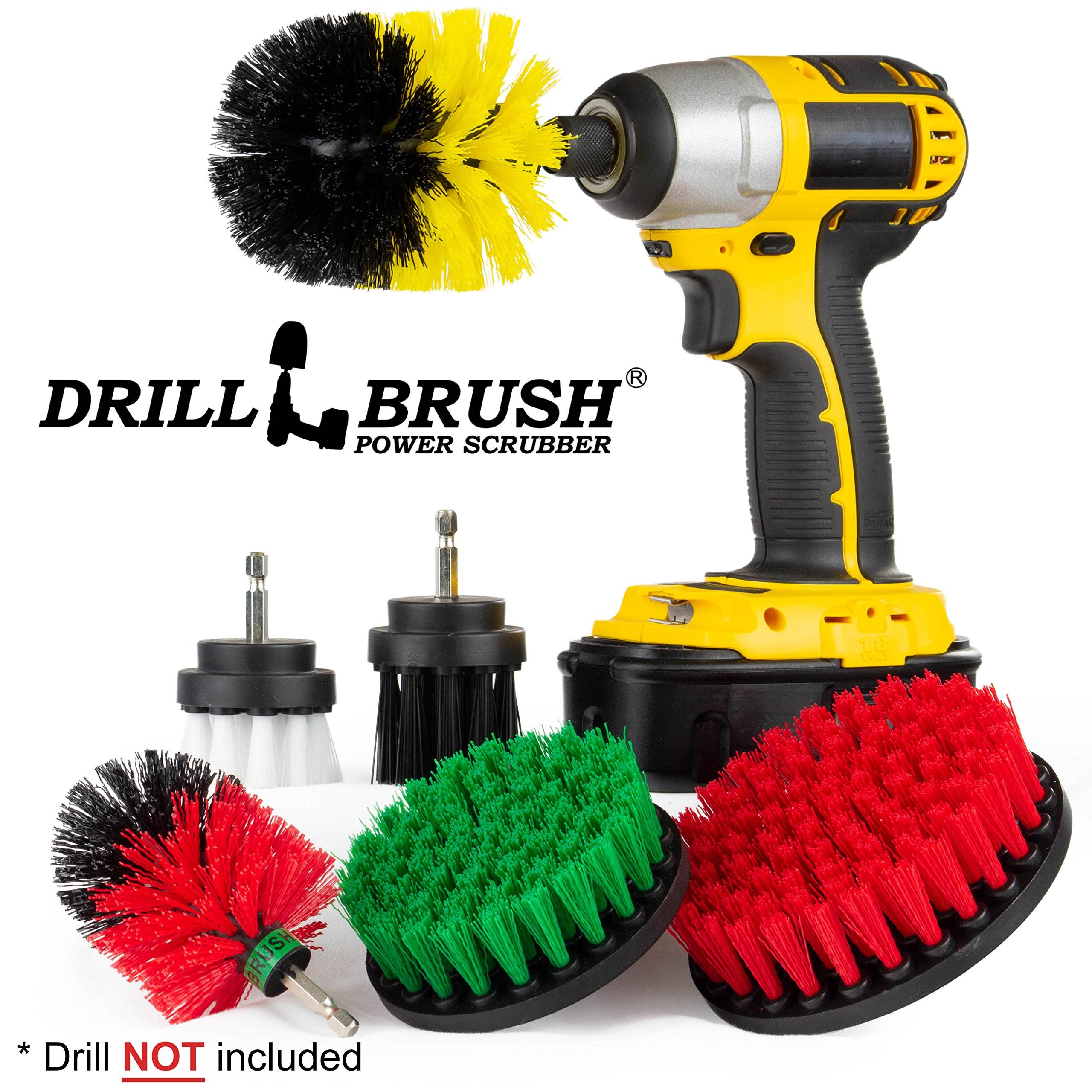 Scouring Pad Brush Electric Drill Clean Kitchen Floor Hard: Amazon.com: Cordless Drill Attachment