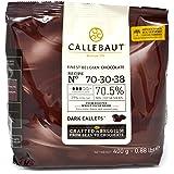 Callebaut N° 70-30-38 - Finest 70.5% Belgian Dark Chocolate Couverture (Callets) 400g